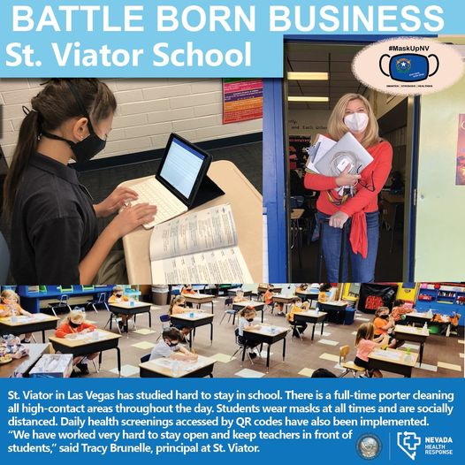 St. Viator is Recognized as a Battle Born Business!